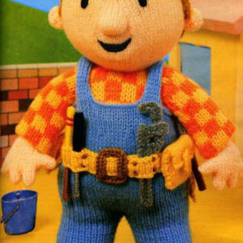 Bob the Builder Toy Knitting Pattern PDF instant download