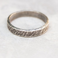 Sterling silver rough ring for man or woman