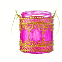 Hanging Candle Holder Inspired by Moroccan Lanterns by LITdecor