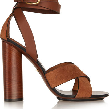 Gucci - Leather and suede sandals