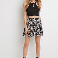 Bundled Floral Mini Skirt
