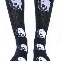 Petals and Peacocks Drip Drop Socks Black One
