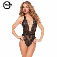 CDJLFH 2018 Newest Women Sexy Bustiers Lace Tops Shirt Underwear One-piece Corset Women Bustiers Intimates Bodysuit Babydoll