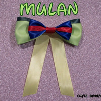 Mulan Hair Bow Mulan Disney Inspired