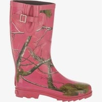 "Footwear :: Women's :: Women's Realtree Hot Pink Camo ""Ms. JoJo"" Rain Boot"
