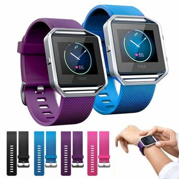 For Fitbit Blaze Band Large Silicone Sports Wristband Strap Belt Band