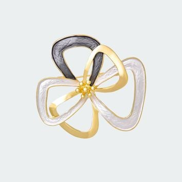 Infinity Flower Brooch