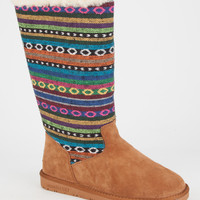 Beach Feet Boho Womens Boots Chestnut  In Sizes