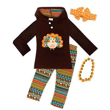 Brown Turkey Outfit Aztec Hoodie And Pants