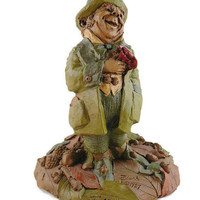 """Vintage, Tom Clark, Retired """"Danny"""", Handcrafted, Leprechaun, Gnome Figurine, Hand Signed, With COA, By Cairns Studio"""