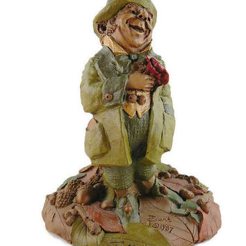 "Vintage, Tom Clark, Retired ""Danny"", Handcrafted, Leprechaun, Gnome Figurine, Hand Signed, With COA, By Cairns Studio"