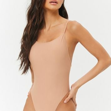 High-Neck One-Piece Swimsuit