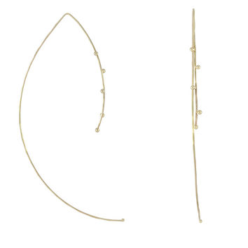 Wire Threader Earring - Yellow Gold