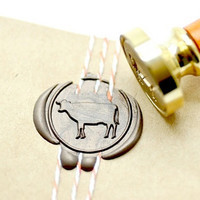B20 Wax Seal Stamp Farm Animal Cow