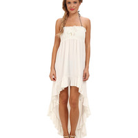 Juicy Couture Bow Chic Smocked High-Low Hem Cover Up Dress