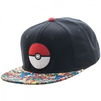 Kirin Hobby : Pokemon: Pokeball Sublimated Bill Snapback Cap (Cap, Hat, Headwear) 887439638505