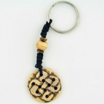 Tibetan Knot Carved Keychain