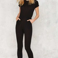 Close For Comfort Scoop Jumpsuit
