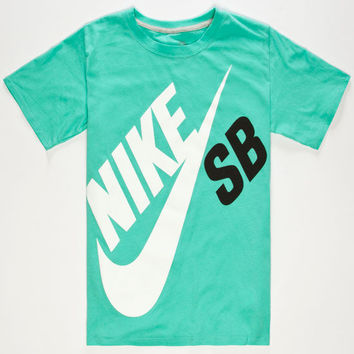 Nike Sb Big Logo Boys T-Shirt Mint  In Sizes