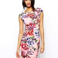 Lipsy Pencil Dress in Summer Floral Print