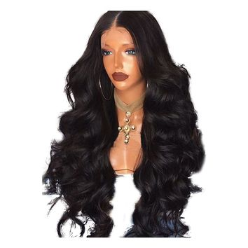 Pre Plucked Gllue-less Body Wave Peruvian Full Lace Human Hair Wigs