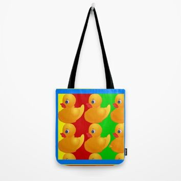 DUCKS IN A ROW Tote Bag by Kathead Tarot