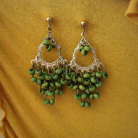 Boho Earrings // Green // Aluminum // Recycled Jewelry // Jewellery // Handcrafted // Chic // Hippie