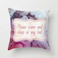 Please come sleep Throw Pillow by Good Sense