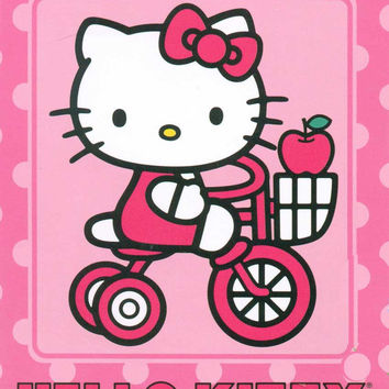 Hello Kitty- Kitty Bike 60x80 Blanket - Free Shipping in the Continental US!