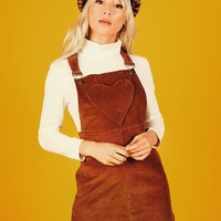 London Pinafore Dress (Brown)