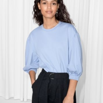 & Other Stories | Puff Sleeve Top | Light Blue