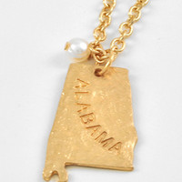 Alabama Gold State Necklace