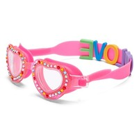 Girl's Bling2O 'Love Letters' Crystal Heart Shaped Swim Goggles