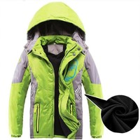 2018 Boy Jackets with hooded Coat Outerwear for Girls Children clothing Kid 4-14 Years Raincoat Winter waterproof Kids Coat