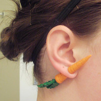 THE ORIGINAL Carrot Fake Gauge Earring