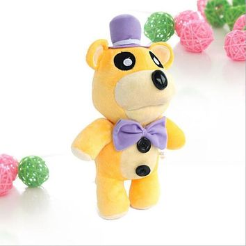 30cm Anime  at Freddy Plush Toy Gold Bear Soft Stand Up Kids Fluffy Toy  Stuffed Animal Doll Gift For Children
