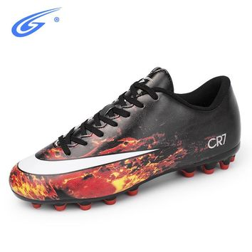 ZHENZU Professional Boys Kids Soccer Cleats Football Soccer Shoes TF Hard Court Sport Sneakers Trainers Football Boots