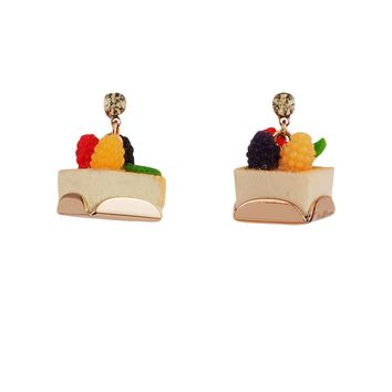 N2 by Les Néréides GOURMET COFFEE FRUIT TART EARRINGS