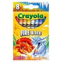 Crayola PYP 8ct Crayons-Fire & Ice - 8ct