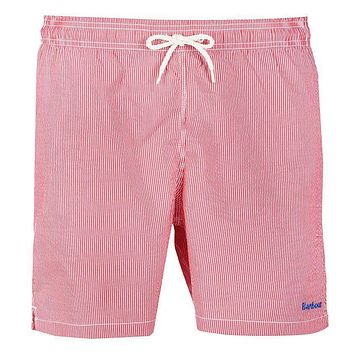 Striped Swimming Short in Red by Barbour