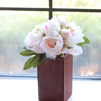 Rustic Wooden Vase - Wedding Centerpiece - Barn Wood Planter Box