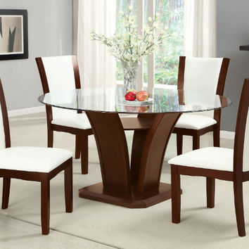 3af5d46391c Furniture of america CM3710RT-WH-5PC 5 pc manhattan ii dark cher