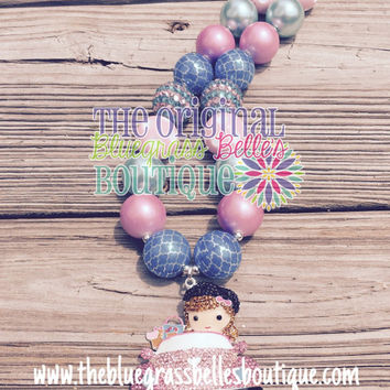 I love shopping bubblegum necklace | chunky bead necklace