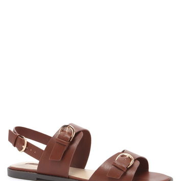 Buckled Faux Leather Sandals | Forever 21 - 2000169971