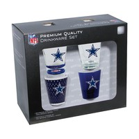 Dallas Cowboys 4-Pack Shot Glass Set, Size: One Size (Cow Team)