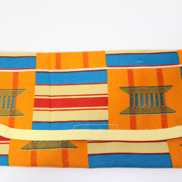 Kente baby clutch--diaper/wipes holder
