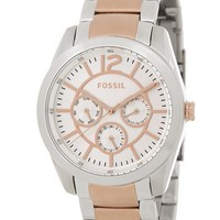 Fossil | Women's Brenna Two-Tone Chronograph Bracelet Watch | Nordstrom Rack