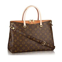 Authentic Louis Vuitton Monogram Canvas Pallas Handbag Epice Article: M41722