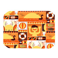 "Tobe Fonseca ""Summer"" Orange Seasonal Place Mat"