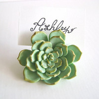 Wedding Succulent Place Card Holder. Wedding Favor. Wedding Photo Holder. Set of 10 Made -to- Order